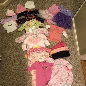 22 Piece Newborn Baby Girl Lot